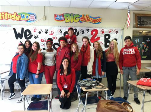 """Wear Red Day"" 4A Class Spirit!"