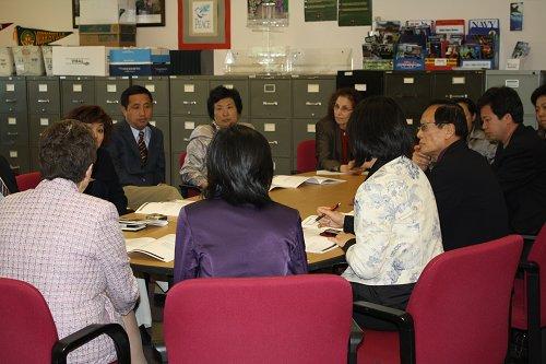 Chinese Educators Meet with NPHS Principal