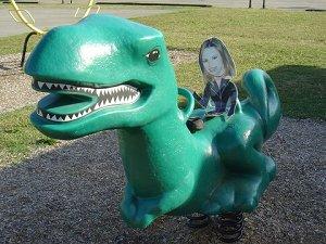 Madame et t-rex
