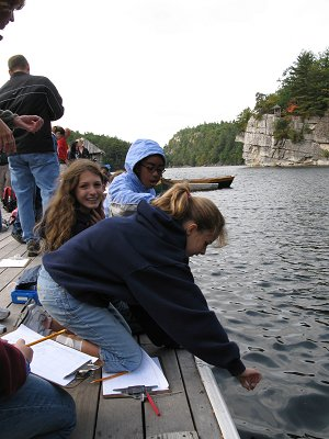 Students Testing Water at Mohonk