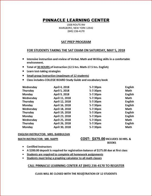 Guidance Home / SAT & ACT