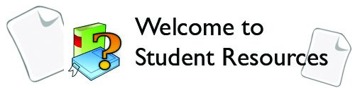 Welcome to Student Resources