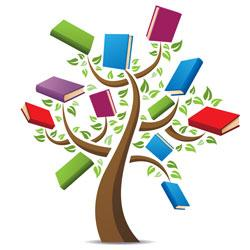 Tree of books clipart